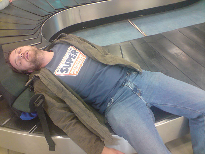Sleeping in Airports on the Carousel