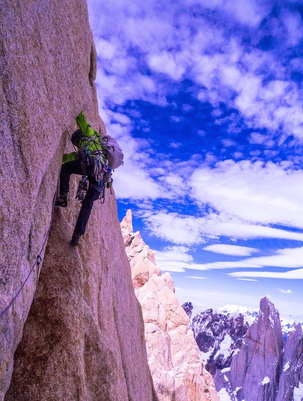Kelly Cordes climbing fitzroy